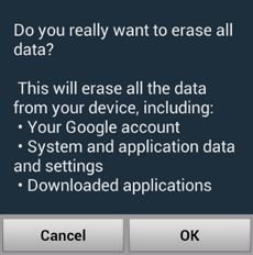 Android Ransomware Warning Screen