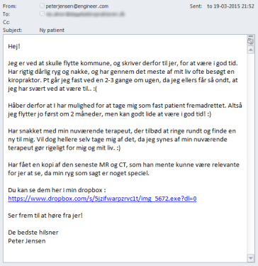 Pacman Ransomware Spear Phishing Email