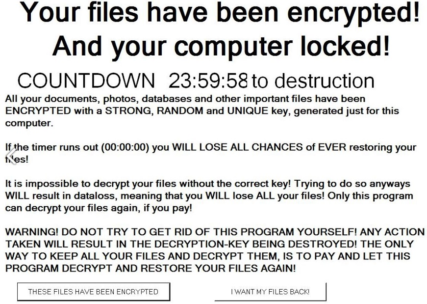 Pacman Ransomware Note