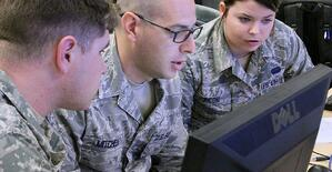 Members of the Louisiana National Guard cybersecurity team (U.S. Army Cyber Command / Flickr)