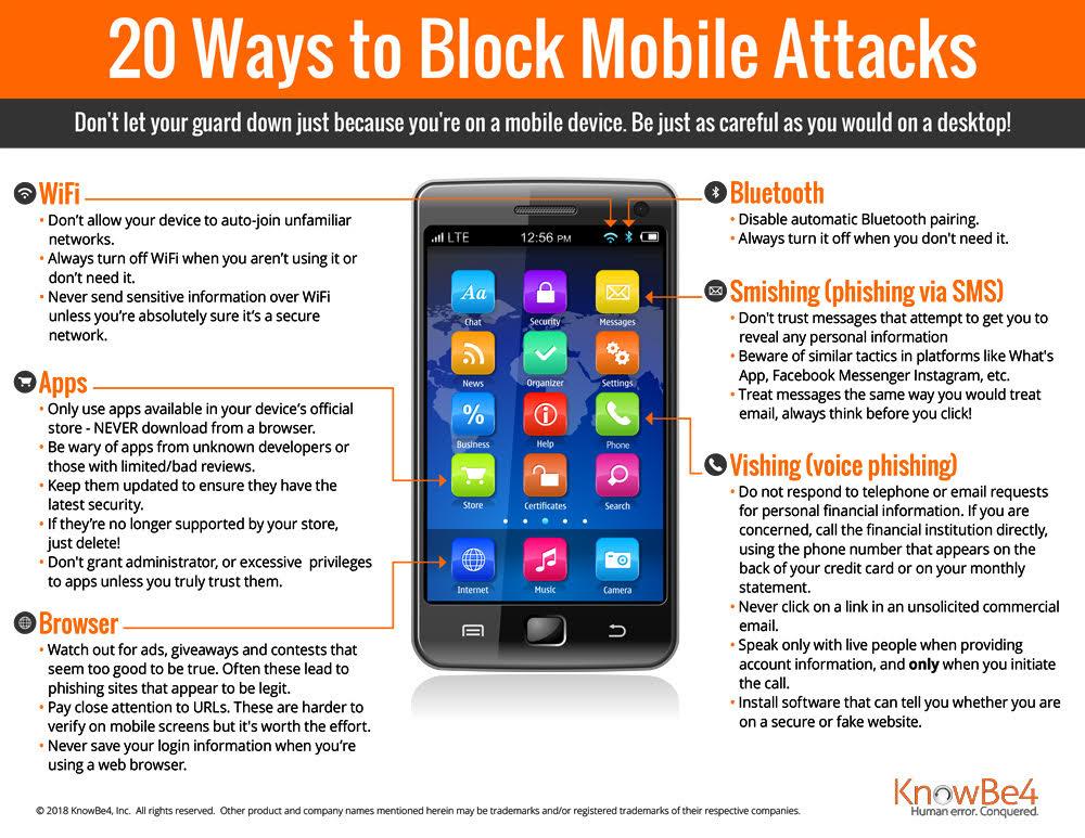 20 Ways to Block Mobile Attacks