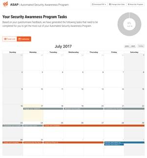 Automated Security Awareness Program Calendar