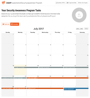 Automated Security Awareness Program Calendar