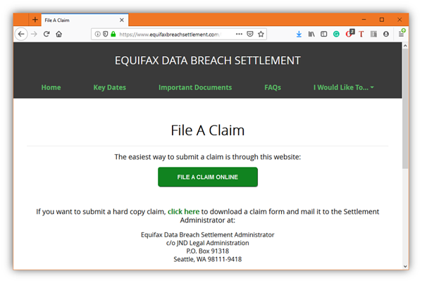 Equifax data breach settlement security awareness training iot gdpr business family friends scam alert phishing