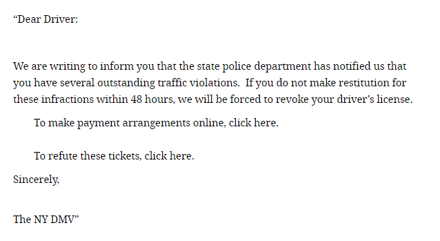 Scam Of The Week: DMV Warns Drivers About Traffic Ticket