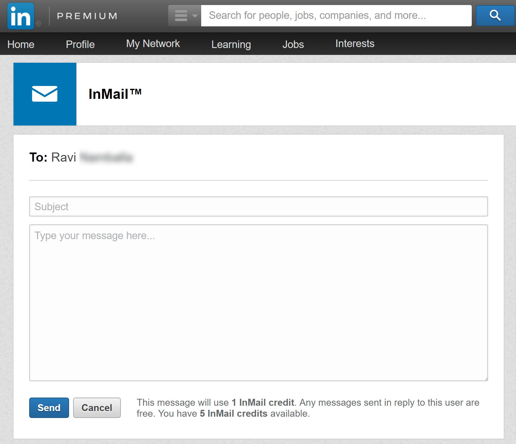 LinkedIn InMail Phish