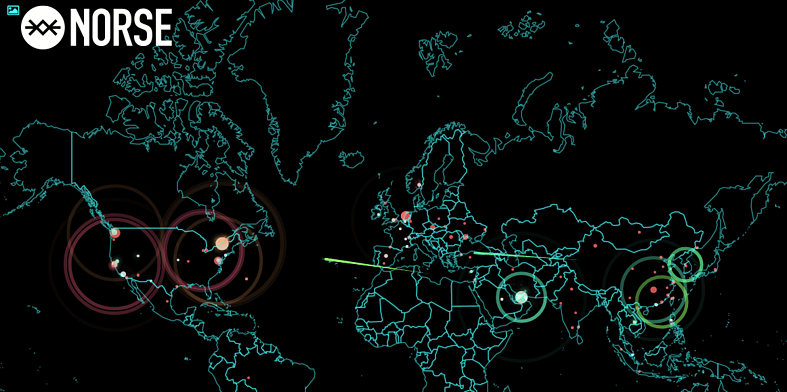 Norse Real Time Cyber Attack Map