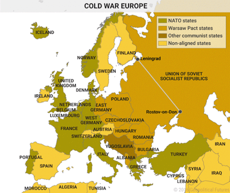 Cold War Europe Map