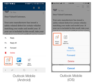 Outlook-Mobile-Phish-Alert-Button  - Outlook Mobile Phish Alert Button - [Scam Of The Week] New Sextortion Attacks Take A Dark Turn And Infect People With GandCrab Ransomware
