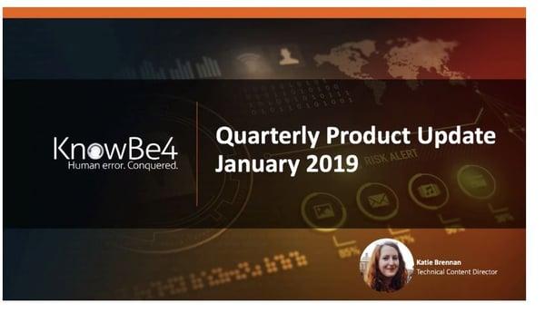 VIDEO] KnowBe4 Quarterly Platform Update