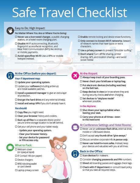 Safe_Travel_Checklist_Thumbnail  - Safe Travel Checklist Thumbnail - Safe Travels for Road Warriors