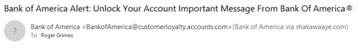 bank of america domain mismatch