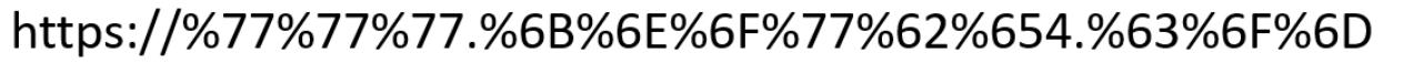 Url character encoding