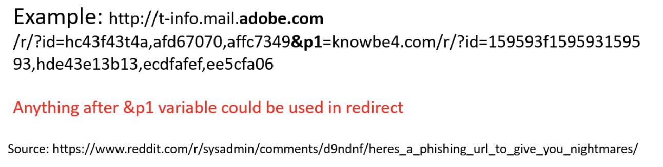 malicious redirection example