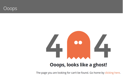 fake 404 page example