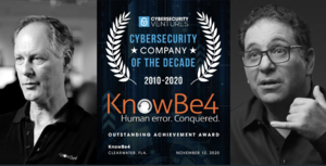 KnowBe4 Cybersecurity Company of the Decade