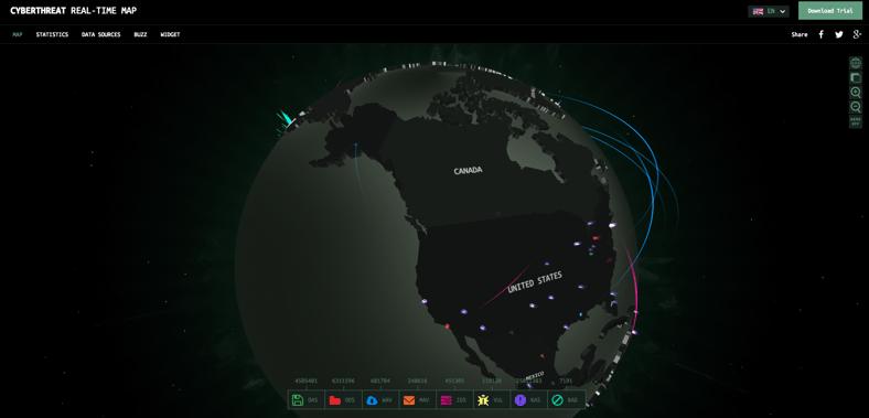 Kaspersky Cyberthreat Real-Time Map