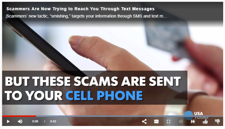 Smishing  PSA Video by USA Today