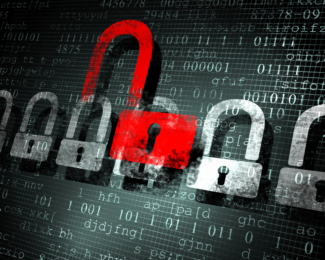 Security concept Lock on digital screen, illustration-4