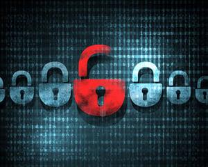 Security concept Lock on digital screen, illustration-6