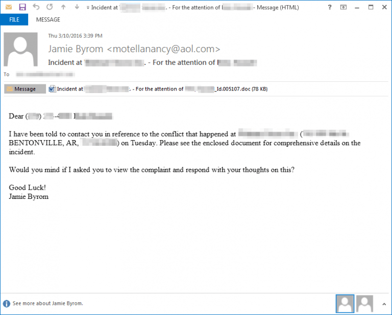 Automated Spear Phishing Ransomware Email