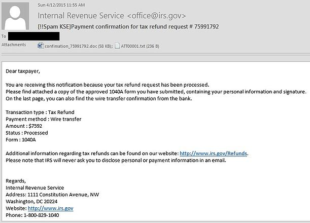 Scam Of The Week Irs Refund Ransomware