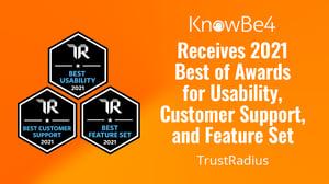 TrustRadius 2021 Best Of Awards KnowBe4