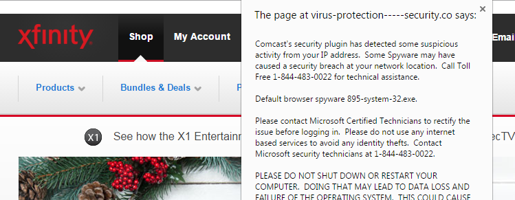 Comcast Social Engineering Ransomware Attack
