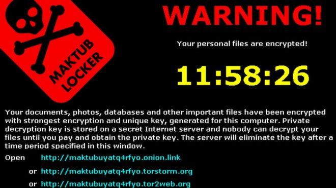 Ransomware Demand Screenshot