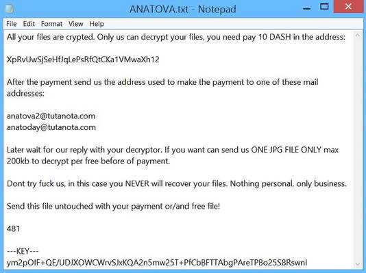 anatova-screenshot  - anatova screenshot - [Heads-up!] New Ransomware Disguised As A Game. Warn Your Users