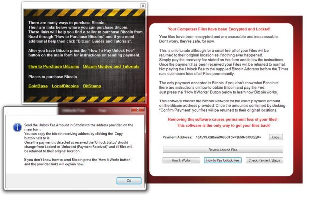 Cryptohost Ransomware Demand Screenshot
