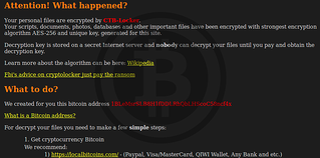 CTB-Locker Ransomware Screenshot