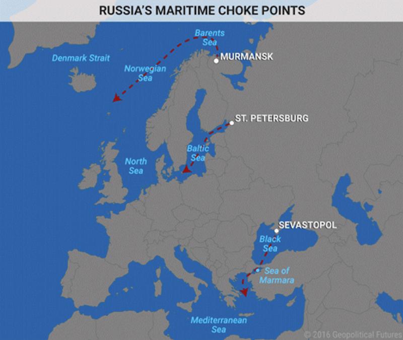 Russia's Maritime Choke Points Map