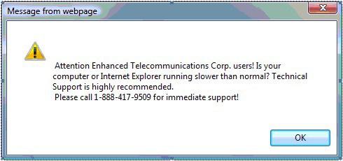 Tech Support Scam Popup