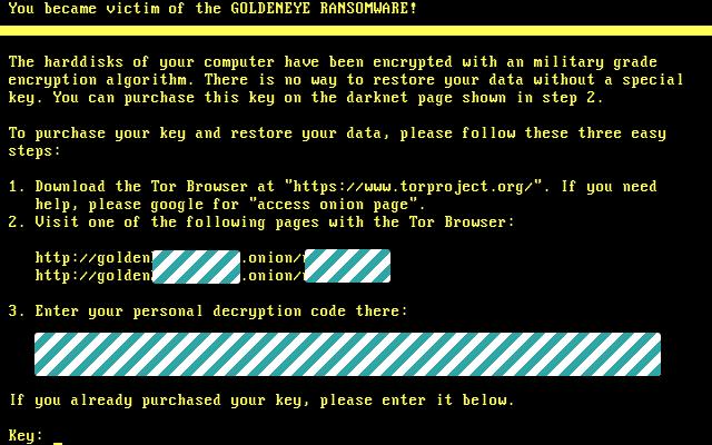 Goldeneye 2nd Ransom Screen