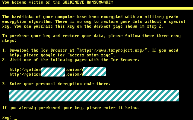 Goldeneye 2nd Ransom Screen