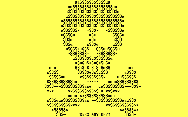 Goldeneye Ransomware ASCII