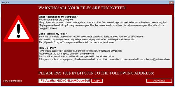 vxCrypter Is the First Ransomware to Delete Duplicate Files