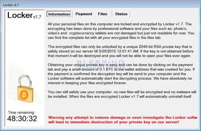 Locker Ransomware Note