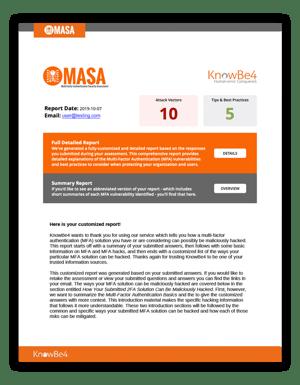 MASA Report