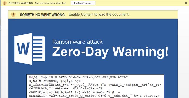 Cerber Ransomware Macros Document