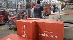 Distributiecentrum van webwinkel Wehkamp, die werd beroofd door hackers. Image copyright and courtesy © ANP