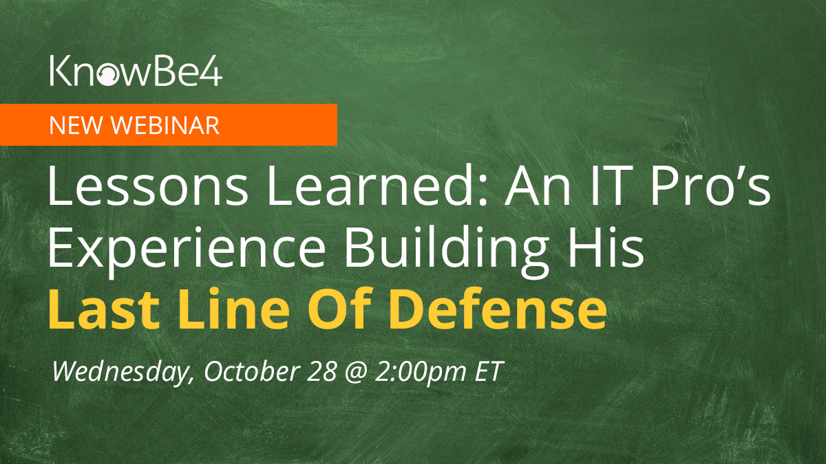 Lessons Learned: An IT Pro's Experience Building his Last Line of Defense