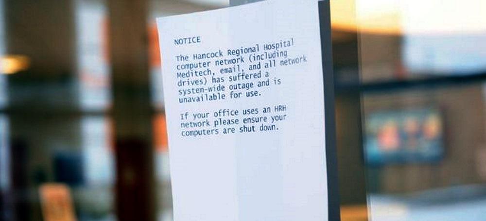 HancockHospital  - HancockHospital - Hospital Pays $55K Ransomware Demand DESPITE Having Backups