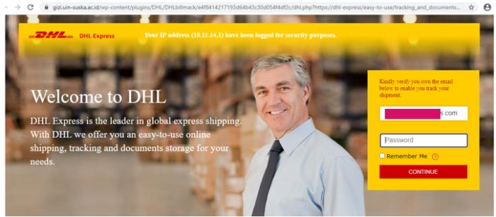 DHL Screenshot