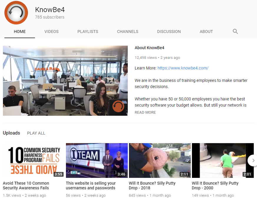 KnowBe4_YouTube_Channel