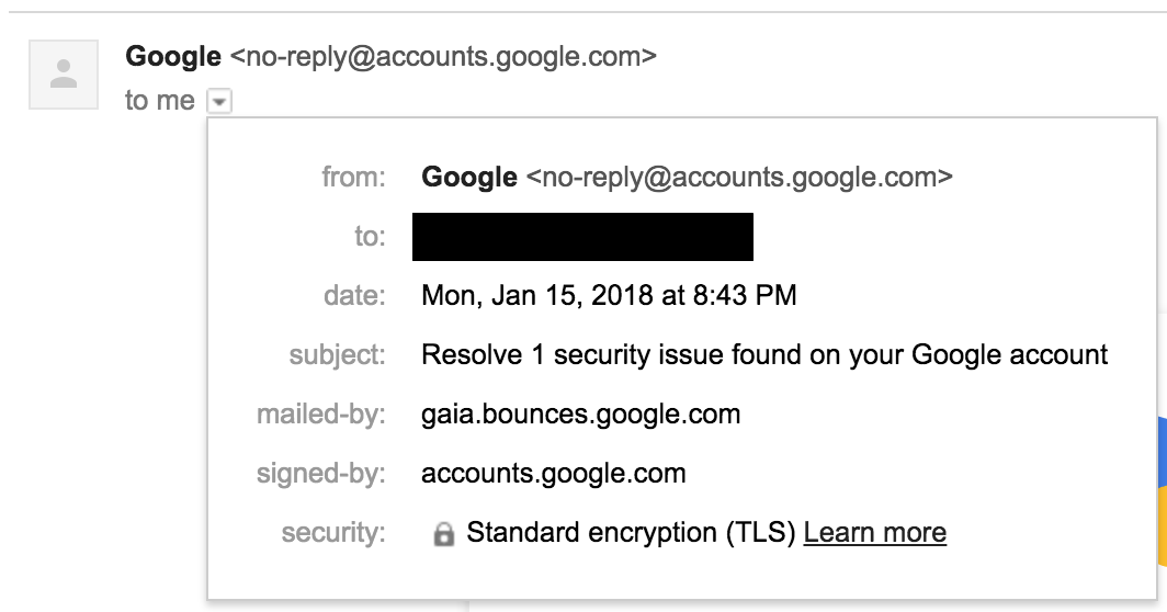 google_Image  - google Image - Google's Confusing Gmail Security Alert Looks Exactly Like a Phishing Attempt