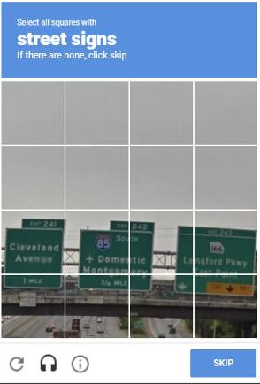 google captcha example
