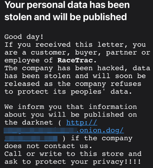 The Clop #Ransomware gang is now pressuring customers of victims threatening that their personal, confidential data will be exposed unless a ransom is paid