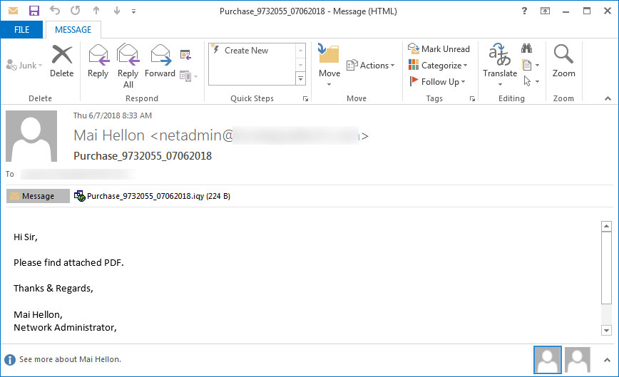spam-2  - spam 2 - New Phishing Campaign Uses IQY Attachments to Bypass Antivirus And Installs RATs